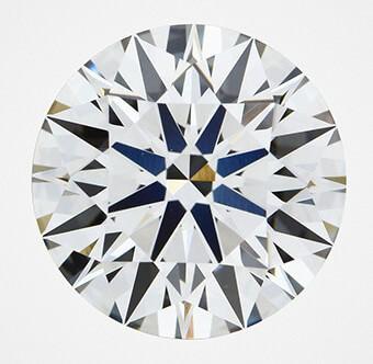 الماس 3.07 قیراطی سنتتیک CVD با inscription جعلی