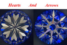 قلب ها و پیکان ها در الماس hearts & arrows